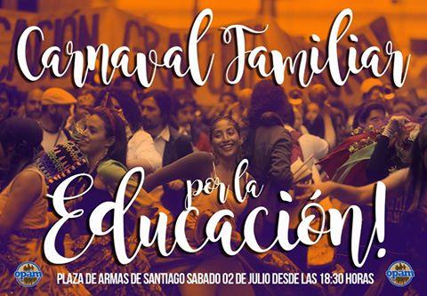 SANTIAGO:CARNAVAL FAMILIAR POR LA EDUCACION