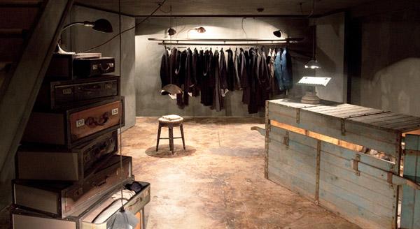 vista general diseño interior sotano boutique creativa
