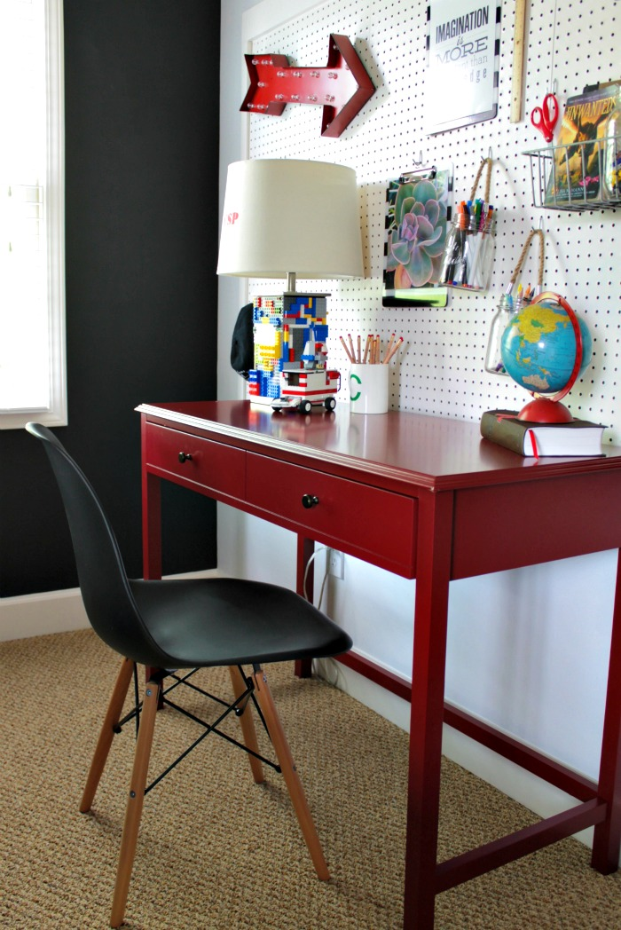 Our fifth house boy 39 s desk area - Desks for small spaces for kids gallery ...