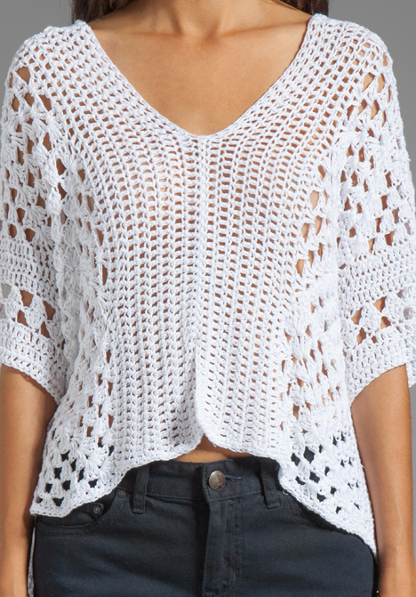 Blusa De Crochet Branca