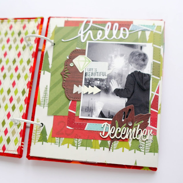the first page of my album, the December 2015 from the collection of AmericanCrafts