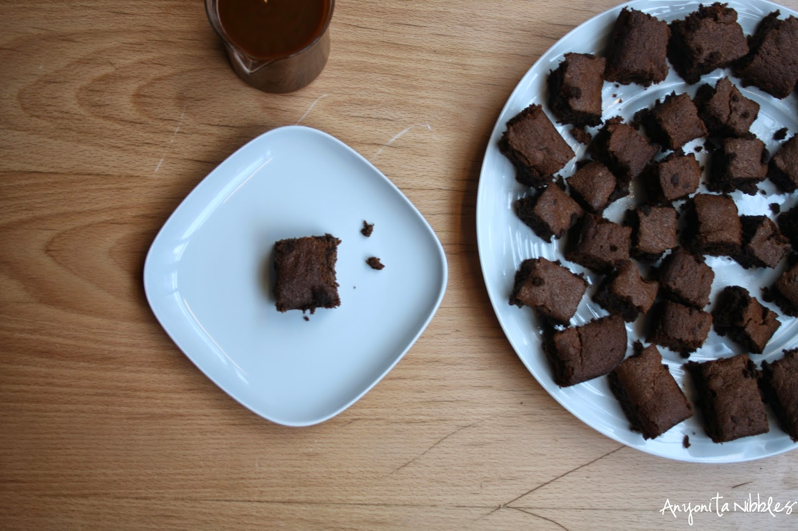 Unadorned gluten free sticky toffee pudding brownies from Anyonita Nibbles
