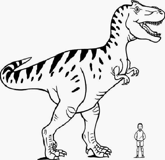 Dinosaurier-Ausmalbilder kostenlos zum Ausdrucken online
