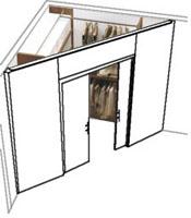 La casa in vetrina angoli spogliatoio e cabine armadio - Cabina armadio dimensioni minime ...