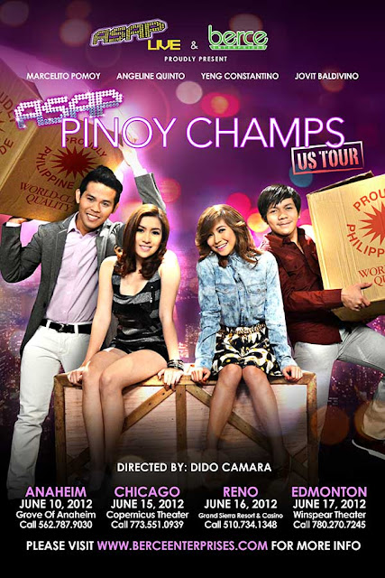 ASAP Pinoy Champs US Tour Schedule Dates and Venue