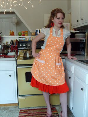 Peachy Kean Polka Dot Vintage Inspired Kitchen A By Kyebags