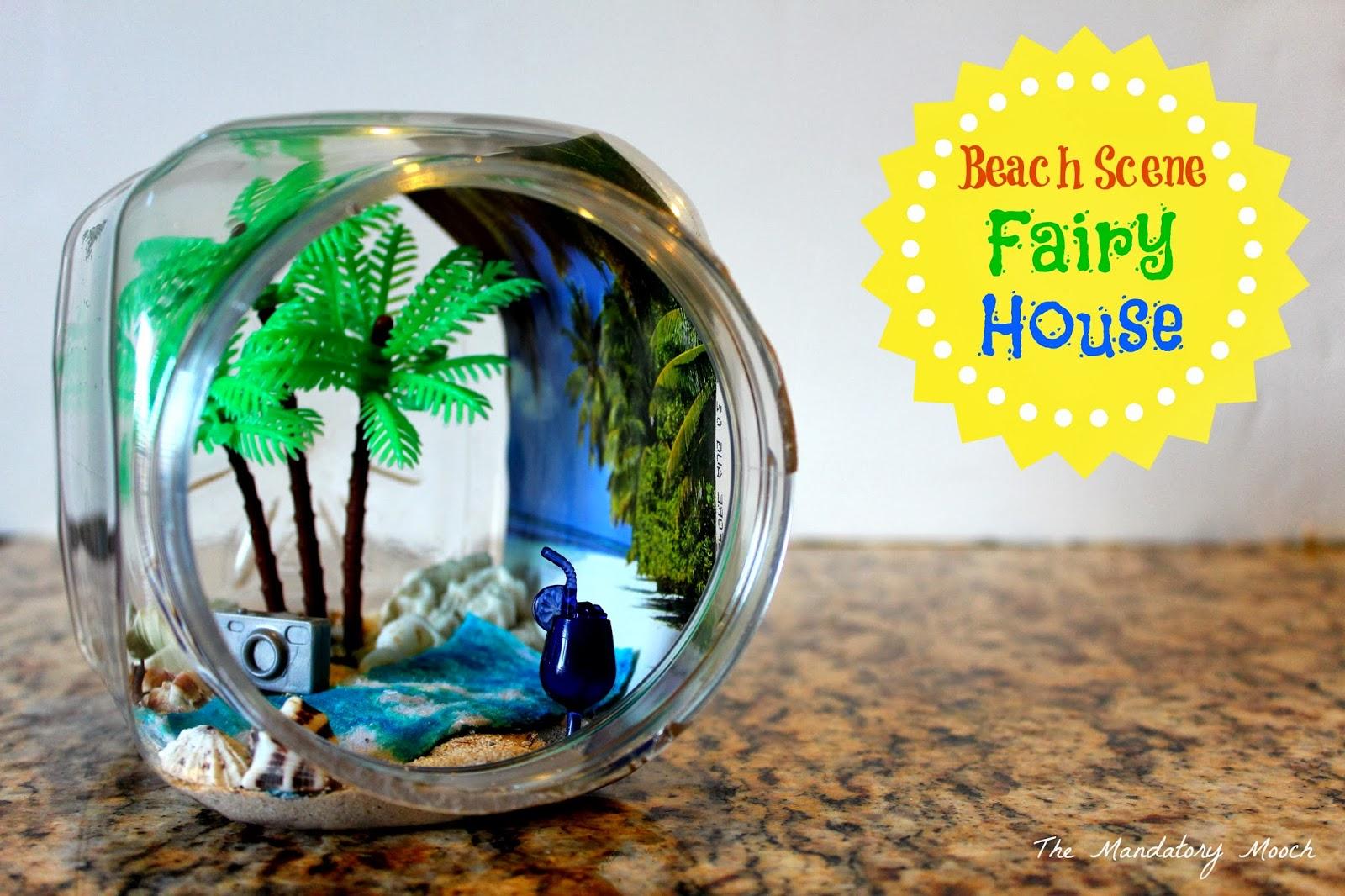 beach scene fairy house