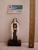 hand carved Saint Clara