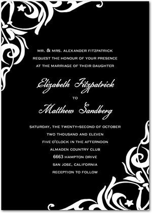 Black  White Wedding Decorations on Black And White Wedding Invitation Ideas Black And White Wedding