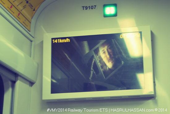 Keadaan dalaman tren ETS KTM #tourail #railtourism #vmy2014