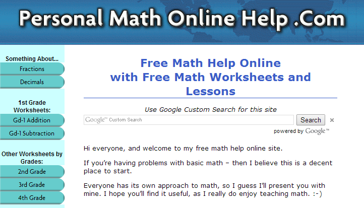 math worksheet : learning never stops 56 great math websites for students of any age : Math Worksheets Websites