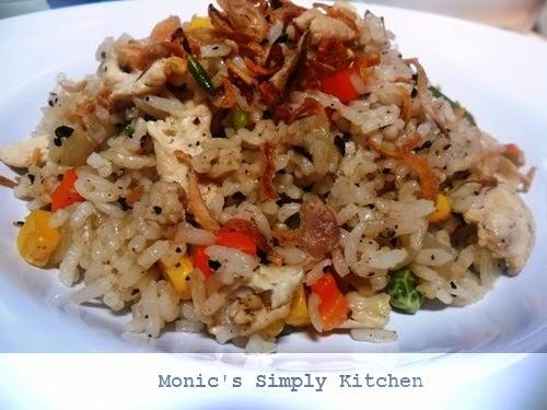 resep nasi goreng ayam lada hitam