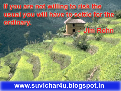 If you are not willing to risk the usual you will have to settle for the ordinary. By Jim Rohn