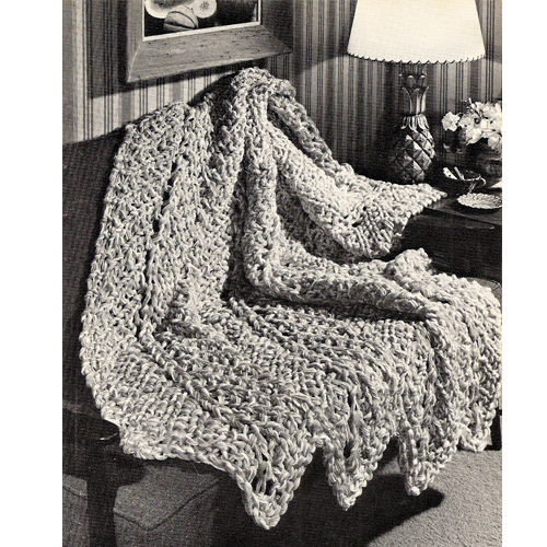 Free Knitting Pattern For Chevron Blanket : Vintage Knit Crochet Shop Talk: Chevron Strip Afghan, Free Knitting Pattern
