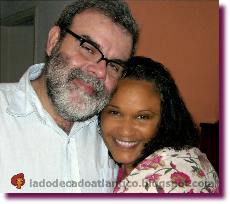 Foto minha com Pedro em casa de minha mãe