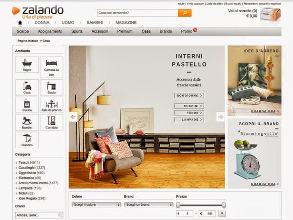 Ars city zalando tanti stili per vestire la nostra casa for Zalando arredamento