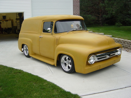 1956 ford f100 panel truck hot rod picture 2