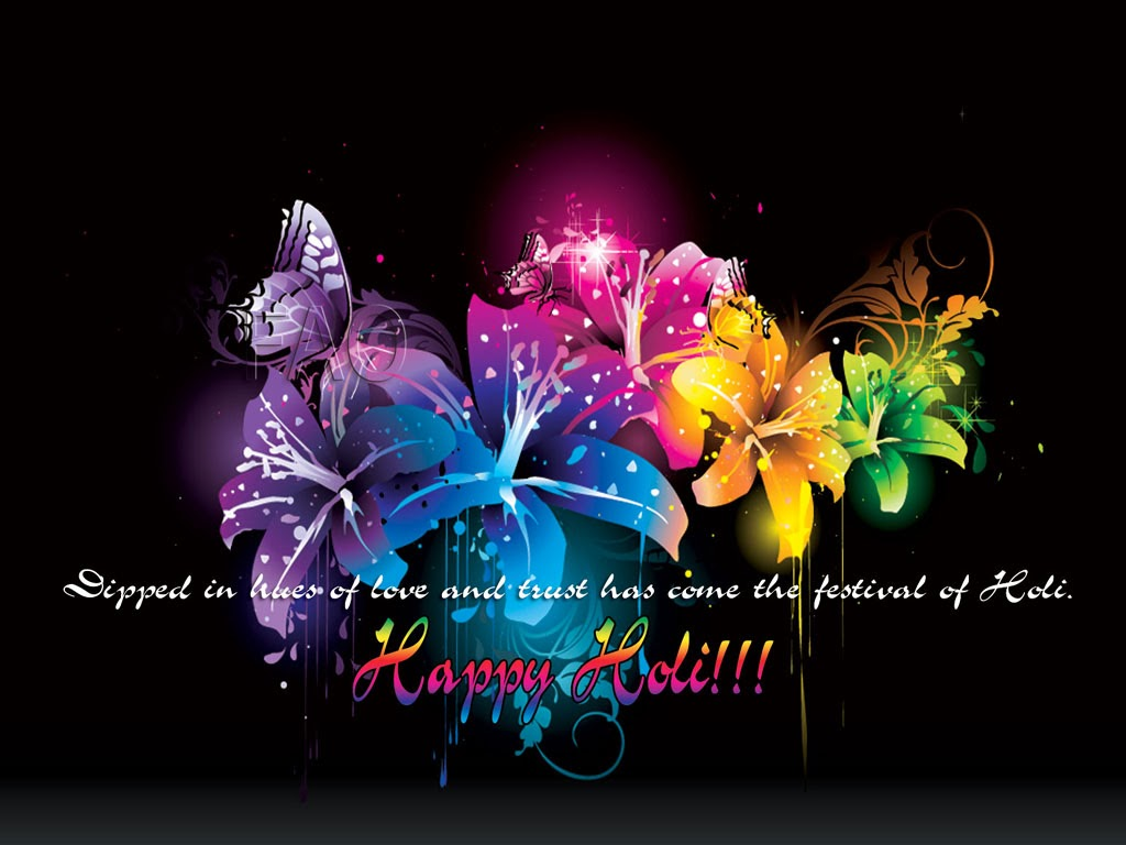 Happy Holi Wishes 3D Abstract Wallpaper Download - HD Wallpaper Pictures