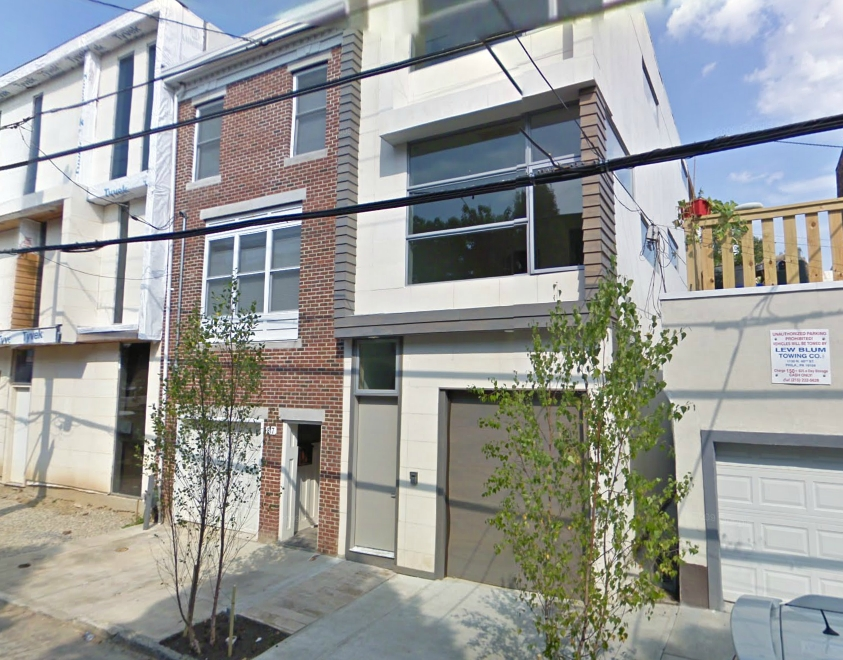 Contemporary Rowhouses, South 19th St., Philadelphia.