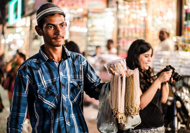 Pearl Seller in Old Hyderabad near Charminar