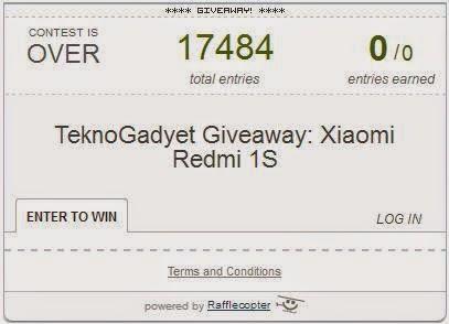 Xiaomi Redmi 1S Giveaway Winner