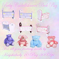 Baby embellishment pack Png tubes digital scrapbooking kits