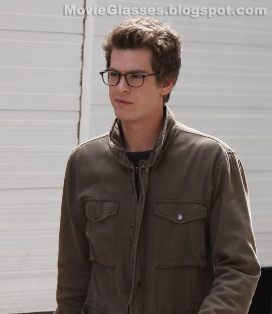 Andrew Garfield plays Peter Parker in The Amazing Spider-Man wearing Oliver Peoples Glasses