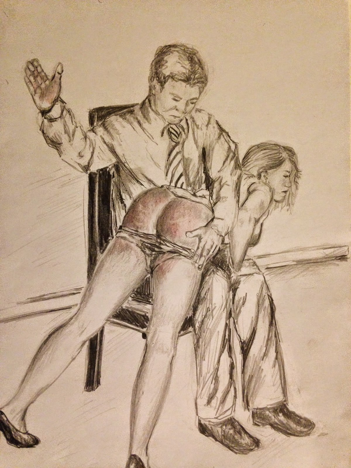 little girl spanked naked art drawings