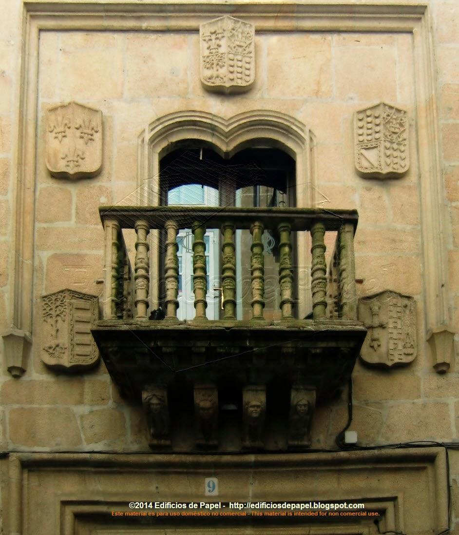 Portada del Liceo de Ourense, Pazo de los Oca