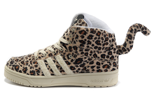 adidas originals x jeremy scott leopard tail sneakers