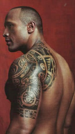 Dwayne Johnson Shoulder Spiritual Tattoo