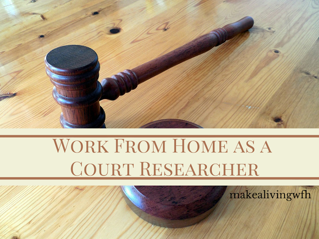 work from home as a court researcher