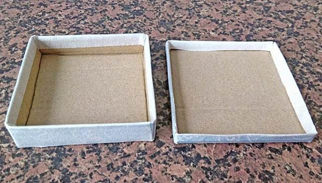 Cajita de cartón- Paso 7: repetimos para hacer la tapa.