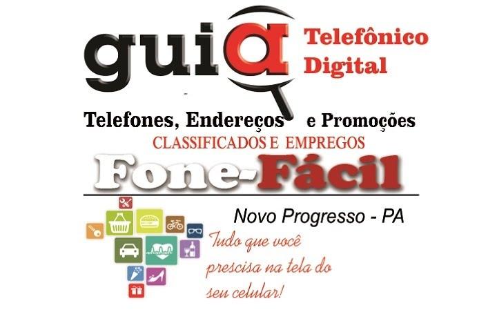 FONE FÁCIL GUIA TELEFÔNICO DIGITAL DE NOVO PROGRESSO