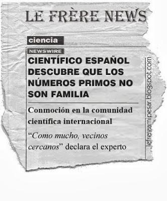 Números primos, científico, familia