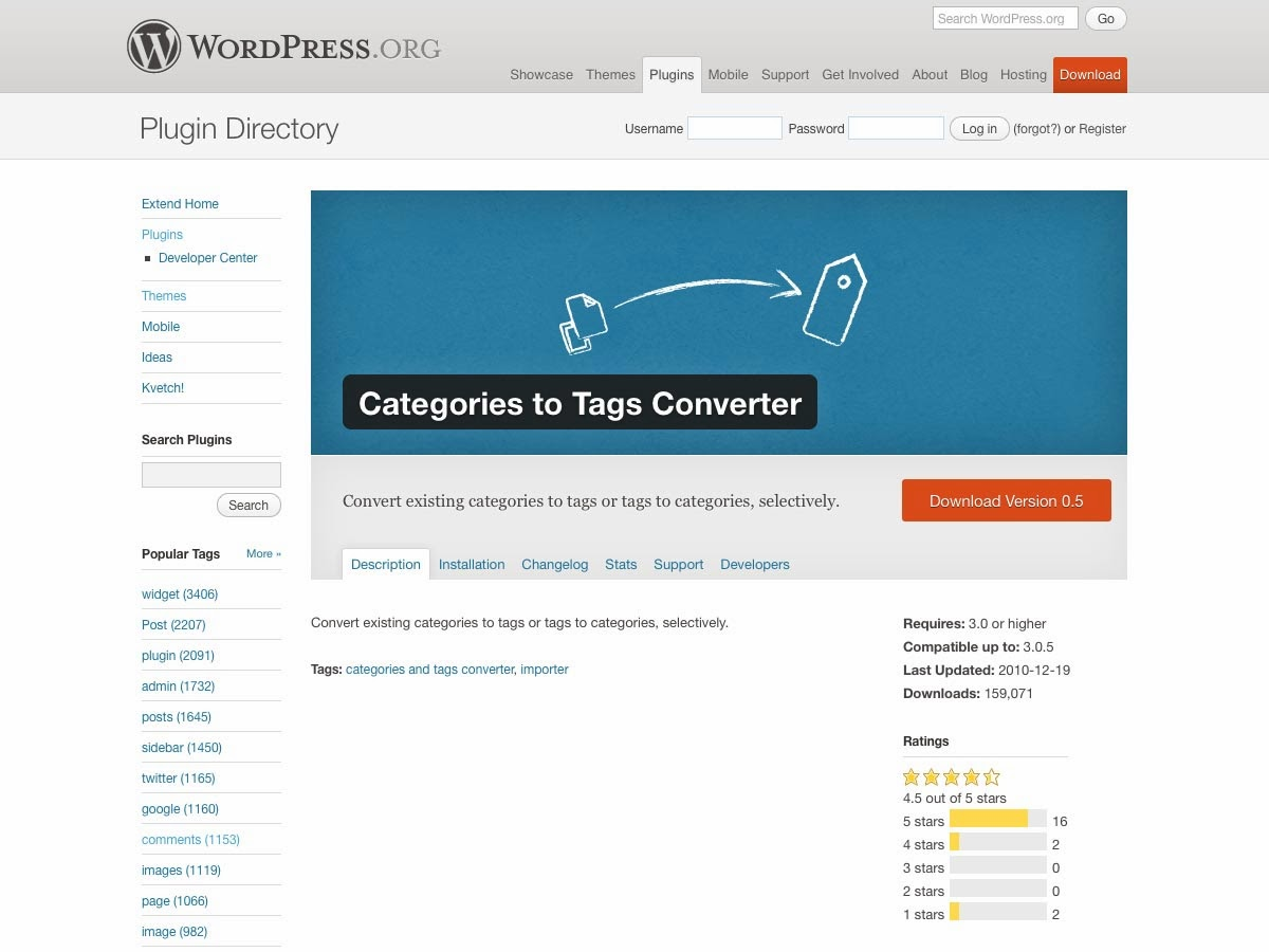 Categories to Tags Converter