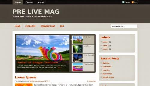 Pre Live Mag - Free Blogger Template