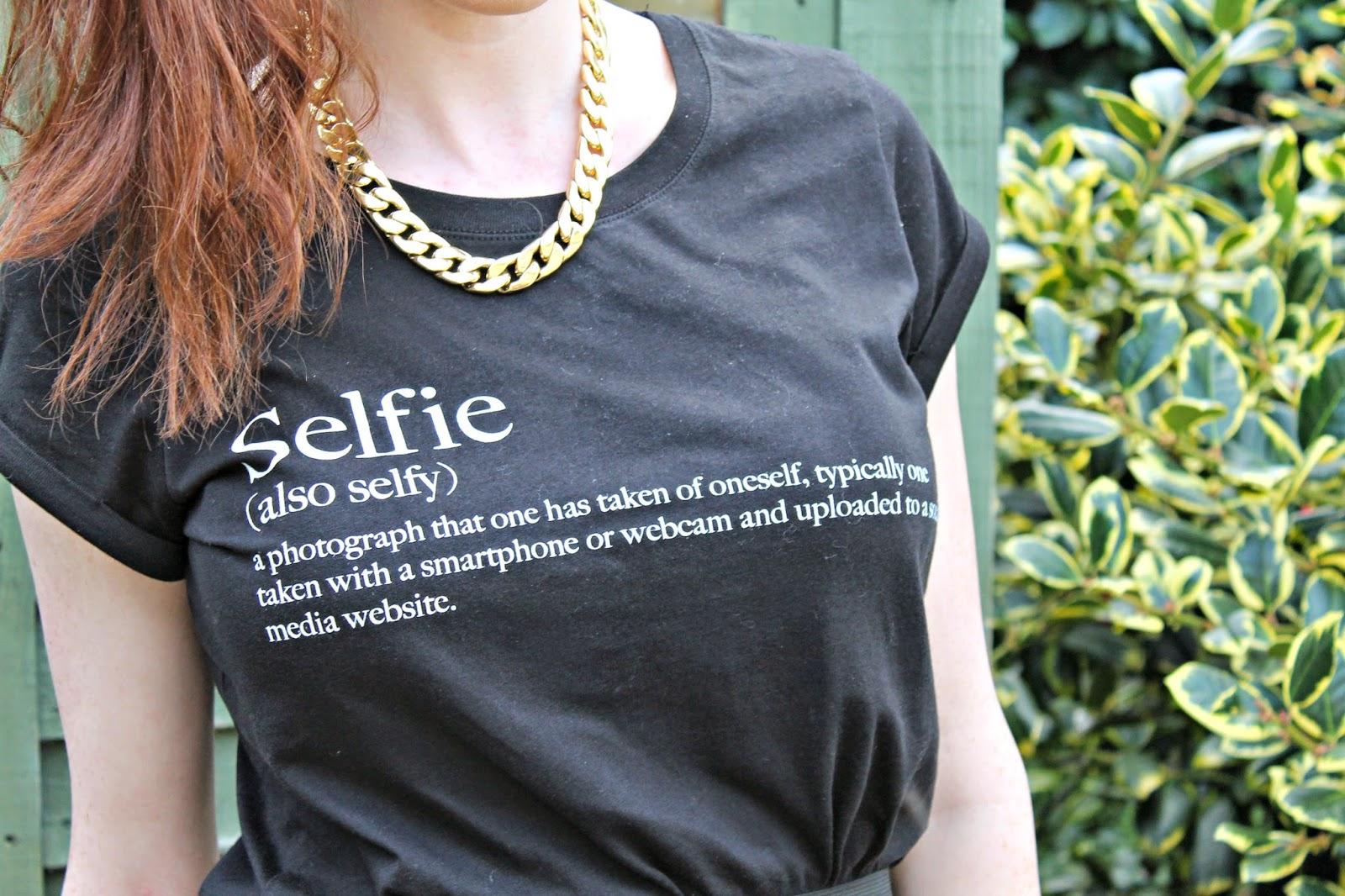 Selfie tshirt new look blog