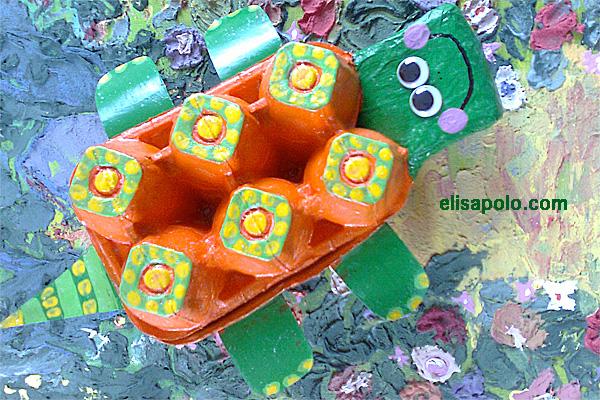"""Jugando a ser """"Seño"""": Manualidades y reciclaje - Tortuga"""