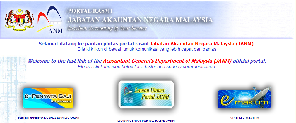 Cara Mendaftar Sistem e-Penyata Gaji dan Laporan