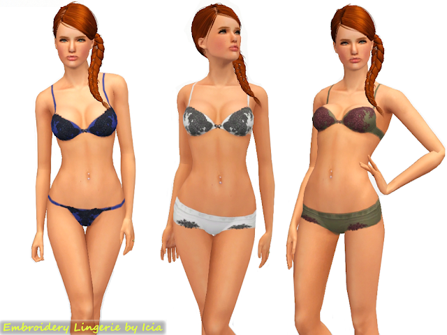 Embroidery Lingerie Set by Icia Embroidery+lingerie