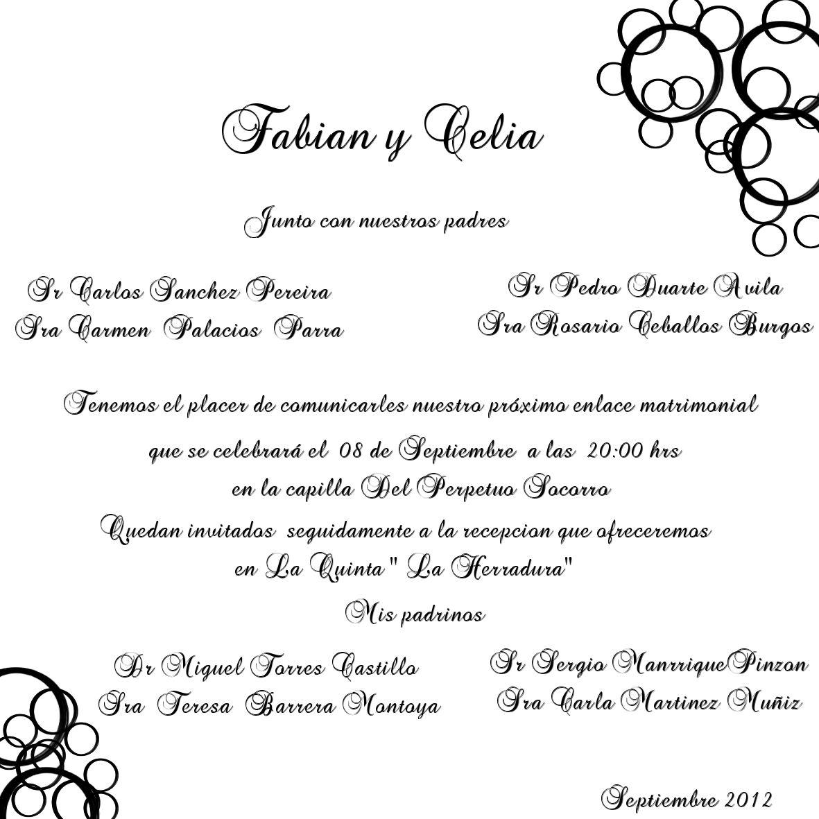 Matrimonio Catolico Requisitos : La casa de chichi invitacion boda