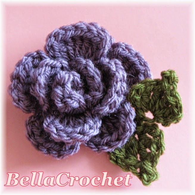 Bellacrochet Sweet And Simple Scarflette With Rolled Rose A Free