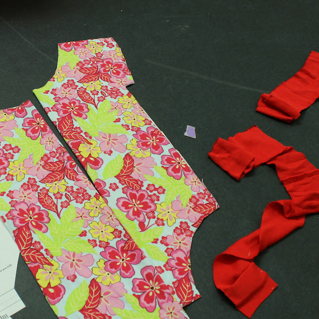 pattern pieces for ringer onesie