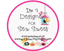 I'm proud I was a dt member for Sew Sweet