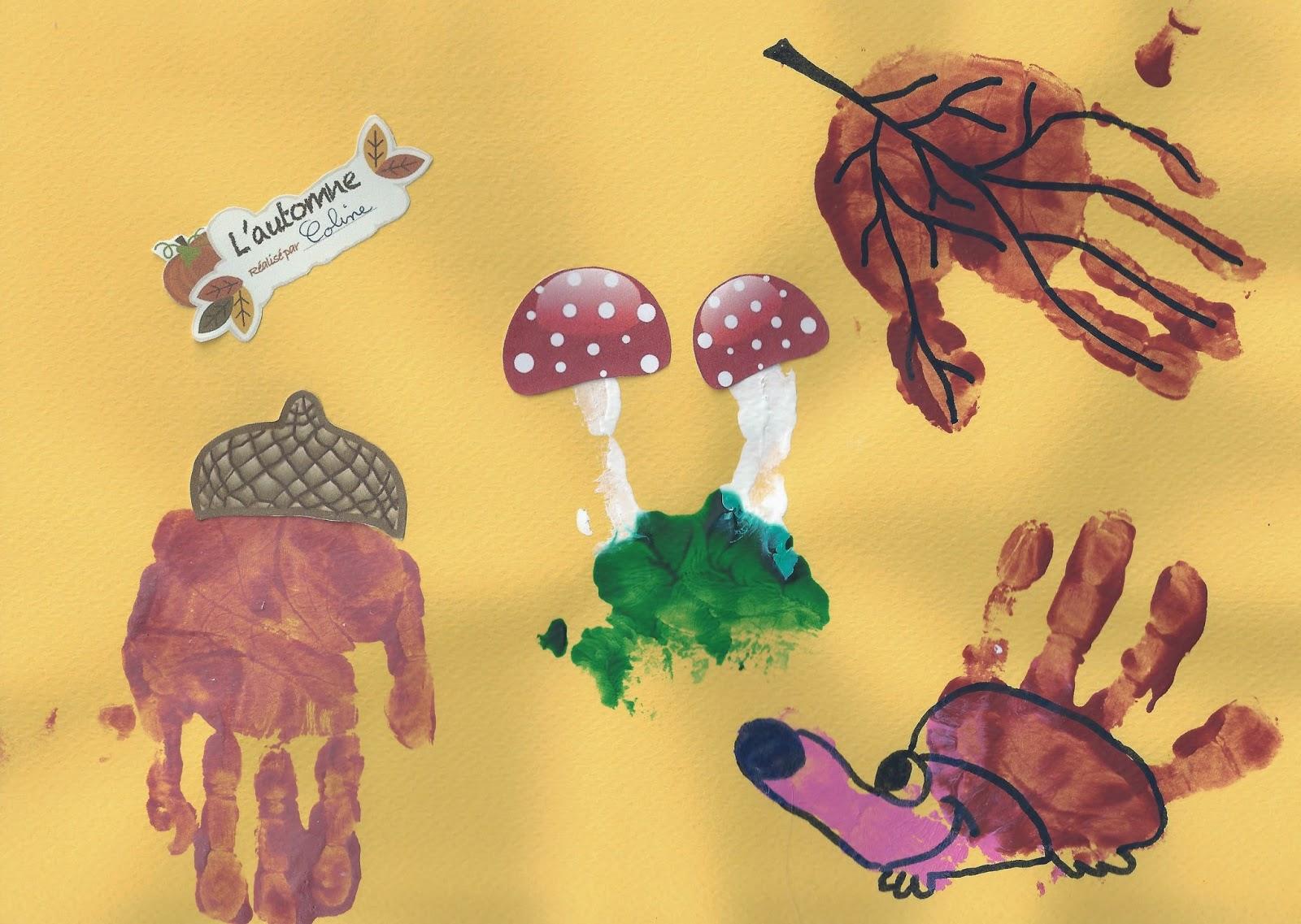 L'automne en empreintes de mains
