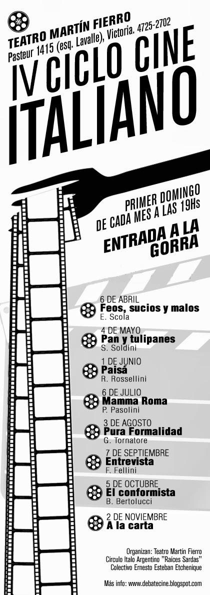 VI Ciclo de Cine Italiano