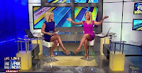 Leggy Fox News babes Ainsely Earhardt and Anna Koiman