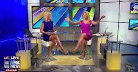 Leggy Fox News babes Ainsely Earhardt and Anna Koiman