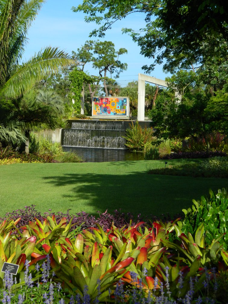 Brazilian Garden Naples Botanical Garden Burle Marx Ceramic Mural by garden muses-a Toronto gardening blog